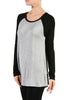 Long Sleeve Colorblocked Baseball Tunic Tee - BodiLove | 30% Off First Order - 6 | Black & Gray