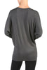 Long Dolman Sleeve Boat Neck Tunic Top - BodiLove | 30% Off First Order - 9 | Dark Gray