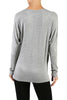 Long Dolman Sleeve Boat Neck Tunic Top - BodiLove | 30% Off First Order - 15 | Light Gray