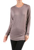 Long Dolman Sleeve Boat Neck Tunic Top - BodiLove | 30% Off First Order - 19 | Mocha