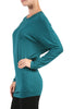 Long Dolman Sleeve Boat Neck Tunic Top - BodiLove | 30% Off First Order - 12 | Teal