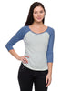 3/4 Sleeve Two Tone Baseball Tee - BodiLove | 30% Off First Order  - 2