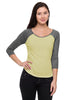 3/4 Sleeve Two Tone Baseball Tee - BodiLove | 30% Off First Order  - 4