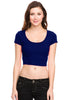 Solid Cap Sleeve Slim Fit Crop Top - BodiLove | 30% Off First Order  - 4