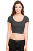 Solid Cap Sleeve Slim Fit Crop Top - BodiLove | 30% Off First Order  - 7
