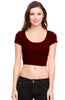 Solid Cap Sleeve Slim Fit Crop Top - BodiLove | 30% Off First Order  - 10