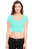 Solid Cap Sleeve Slim Fit Crop Top - BodiLove | 30% Off First Order  - 13