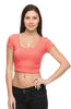 Solid Cap Sleeve Slim Fit Crop Top - BodiLove | 30% Off First Order  - 19
