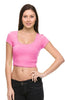 Solid Cap Sleeve Slim Fit Crop Top - BodiLove | 30% Off First Order  - 22