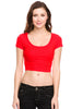 Solid Cap Sleeve Slim Fit Crop Top - BodiLove | 30% Off First Order  - 28