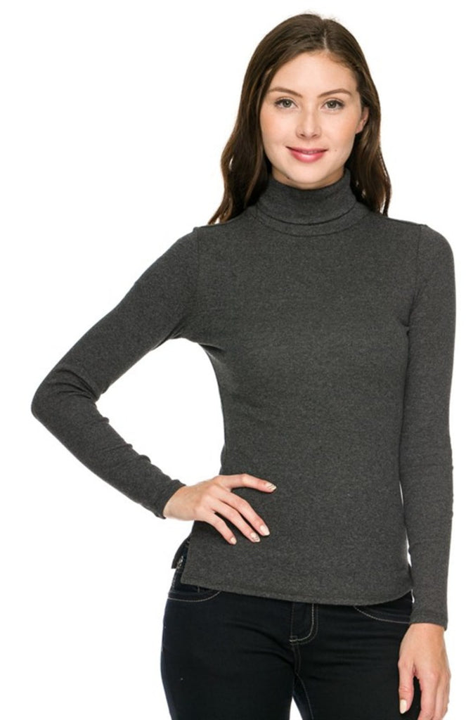 Trendy Slim Fit Long Sleeve Turtleneck - BodiLove | 30% Off First Order  - 4
