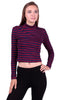 Long Sleeve Mock Turtleneck Crop Top - BodiLove | 30% Off First Order  - 9