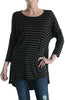 3/4 Dolman Sleeve Hi-Low Tunic - BodiLove | 30% Off First Order - 1