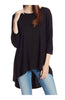 3/4 Dolman Sleeve Hi-Low Tunic - BodiLove | 30% Off First Order - 4