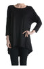 3/4 Dolman Sleeve Hi-Low Tunic - BodiLove | 30% Off First Order - 6