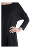 3/4 Dolman Sleeve Hi-Low Tunic - BodiLove | 30% Off First Order - 7