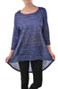 3/4 Dolman Sleeve Hi-Low Tunic - BodiLove | 30% Off First Order - 10
