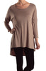 3/4 Dolman Sleeve Hi-Low Tunic - BodiLove | 30% Off First Order - 14