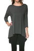 3/4 Dolman Sleeve Hi-Low Tunic - BodiLove | 30% Off First Order - 16