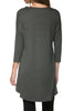 3/4 Dolman Sleeve Hi-Low Tunic - BodiLove | 30% Off First Order - 17
