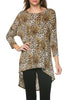 3/4 Dolman Sleeve Hi-Low Tunic - BodiLove | 30% Off First Order - 20
