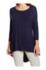 3/4 Dolman Sleeve Hi-Low Tunic - BodiLove | 30% Off First Order - 24