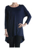 3/4 Dolman Sleeve Hi-Low Tunic - BodiLove | 30% Off First Order - 26