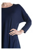 3/4 Dolman Sleeve Hi-Low Tunic - BodiLove | 30% Off First Order - 27