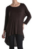 3/4 Dolman Sleeve Hi-Low Tunic - BodiLove | 30% Off First Order - 28