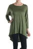 3/4 Dolman Sleeve Hi-Low Tunic - BodiLove | 30% Off First Order - 31