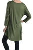 3/4 Dolman Sleeve Hi-Low Tunic - BodiLove | 30% Off First Order - 32