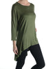3/4 Dolman Sleeve Hi-Low Tunic - BodiLove | 30% Off First Order - 33