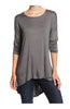 3/4 Dolman Sleeve Hi-Low Tunic - BodiLove | 30% Off First Order - 35
