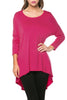 3/4 Dolman Sleeve Hi-Low Tunic - BodiLove | 30% Off First Order - 39