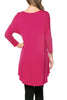 3/4 Dolman Sleeve Hi-Low Tunic - BodiLove | 30% Off First Order - 40