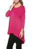 3/4 Dolman Sleeve Hi-Low Tunic - BodiLove | 30% Off First Order - 41