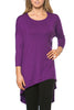 3/4 Dolman Sleeve Hi-Low Tunic - BodiLove | 30% Off First Order - 43