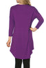 3/4 Dolman Sleeve Hi-Low Tunic - BodiLove | 30% Off First Order - 44