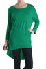 3/4 Dolman Sleeve Hi-Low Tunic - BodiLove | 30% Off First Order - 47