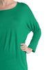 3/4 Dolman Sleeve Hi-Low Tunic - BodiLove | 30% Off First Order - 50