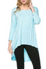 3/4 Dolman Sleeve Hi-Low Tunic - BodiLove | 30% Off First Order - 52