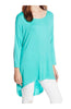 3/4 Dolman Sleeve Hi-Low Tunic - BodiLove | 30% Off First Order - 60