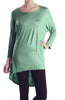 3/4 Dolman Sleeve Hi-Low Tunic - BodiLove | 30% Off First Order - 62
