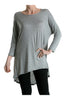 3/4 Dolman Sleeve Hi-Low Tunic - BodiLove | 30% Off First Order - 66