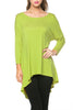 3/4 Dolman Sleeve Hi-Low Tunic - BodiLove | 30% Off First Order - 68