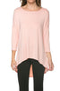 3/4 Dolman Sleeve Hi-Low Tunic - BodiLove | 30% Off First Order - 72
