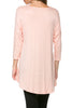 3/4 Dolman Sleeve Hi-Low Tunic - BodiLove | 30% Off First Order - 73