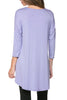 3/4 Dolman Sleeve Hi-Low Tunic - BodiLove | 30% Off First Order - 77