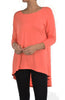 3/4 Dolman Sleeve Hi-Low Tunic - BodiLove | 30% Off First Order - 82
