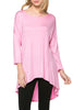 3/4 Dolman Sleeve Hi-Low Tunic - BodiLove | 30% Off First Order - 92